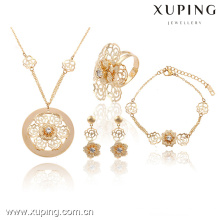 63737-Xuping mariage à la mode fleur bijoux bijoux classique ensemble pour les femmes