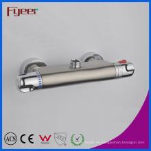Fyeer Control de temperatura níquel cepillado grifo de ducha termostática (QH0202S)