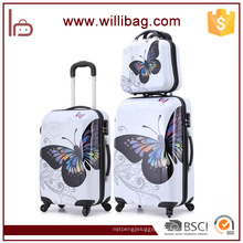 PC Suitcase Colorful Trolley Travel Bags Butterfly Luggage Set