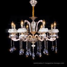 Lampe moderne d'hôtel, lumière en cristal de lustre de bougie, lampe pendante en cristal 88632