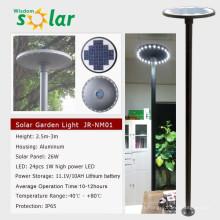 Chaud tous dans un seul jardin lampe solaire avec capteur humain; intégrée lampe solaire de jardin
