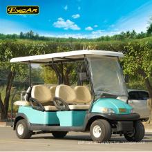 Großhandelselektrischer Golfwagen mit 6 Sitzen für Verkauf 48V Golfbuggywarenkorbbatterie elektrischer Buggy