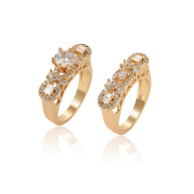 15764 xuping fashion synthetic gemstone environmental copper 18K gold color set ring