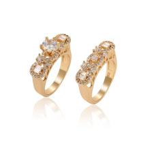 15764 xuping moda gemstone sintético ambiental cobre 18 K anel de cor do ouro