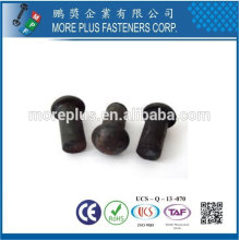 Taiwán Acero inoxidable 18-8 Acero cromado Acero chapado en níquel Cobre Latón DIN6791 DIN660 Remache semi-tubular y sólido