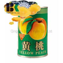 Bom barato pêssego amarelo em calda