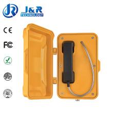 Téléphone à tunnel robuste, téléphones étanches pour l'industrie, téléphone VoIP / SIP