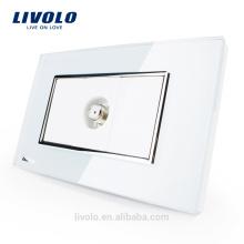Fabricant Livolo US Standard Prise de courant satellite Prise de télévision en verre cristal VL-C391ST-81