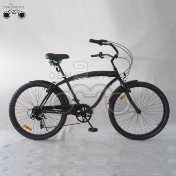 26inch Men 6speed negro Beach Cruiser Bike