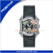 Original nouvelle arrivée Fashional Watch montre-bracelet à quartz avec bracelet en cuir véritable et cadran Mop