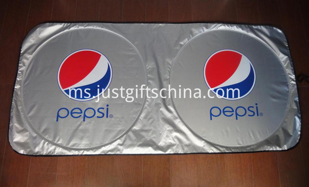 Custom Imprinted Nylon Sunshade - Pepsi Branded Logo