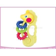 Baby Rattle Vinyl Sea Horse Mordedor para bebé