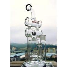 Стеклянная водопроводная труба с двойным рециркуляцией перфоратор стеклянная водопроводная труба для курения оптом от Enjoylife