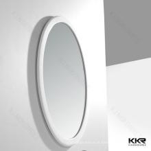 Espelhos ovais do banheiro do quadro da superfície contínua do projeto