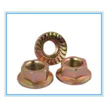 DIN / JIS Procurar / Zinco Plainted Hex Flange Nut