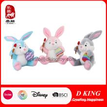 Regalo personalizado del festival para el conejo de felpa de juguete relleno de Pascua