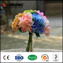 plastic artificial silk rose flowers for wedding decoration