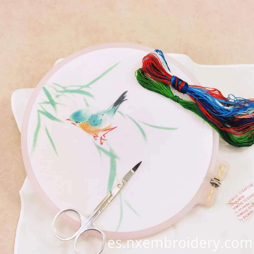 embroidered material kit