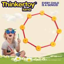 Геометрическая двумерная фигурная строительная игрушка для детей