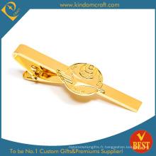 Vente en gros de gros clips de cravate élégante et personnalisée avec boîte de qualité supérieure