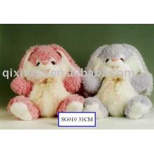 plush&stuffed valentine dog with bow,cute soft animal toy