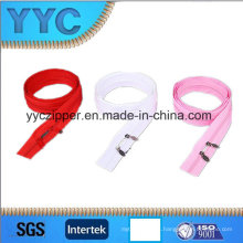 Material de nylon y textil para el hogar, prendas de vestir, bolsas de usar Nylon de dos vías abrir cremallera