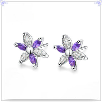 Brinco de cristal moda jóias 925 jóias de prata esterlina (se047)