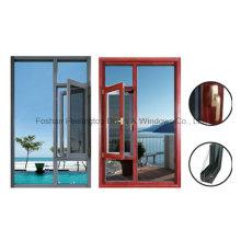 Lève-vitre pivotant à battant de 1,4 mm en aluminium à rupture de pont thermique (FT-W55)