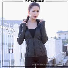 Vestuário de treinamento esportivo personalizado Traning jaqueta para as mulheres
