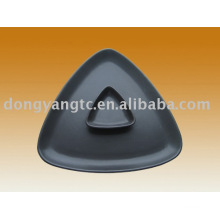 Factory direct wholesale 9   3 Inch black ceramic glazed plates