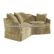 European vintage style corner sofa for living room furniture XY0955
