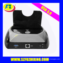 2.5 / 3.5 '' USB 3.0 SATA HDD de plástico de la estación de acoplamiento con OTB