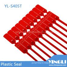 Sello de plástico con bloqueo de metal autobloqueante con número de serie