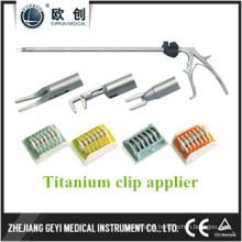 Fábrica Diretamente Novo 10X330mm Laparoscópico Duplo Acção Lt300 Titanium Clip Applier