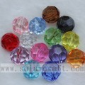 Transparente Acryl-Runde 32 Facetten Diamant Perlen Spacer beads