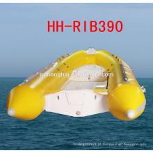 RIB390 de borracha barco barco inflável rígido casco do barco com CE