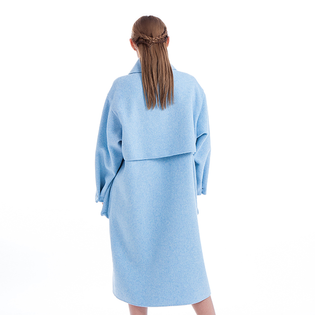 Cashmere coat blue fashion