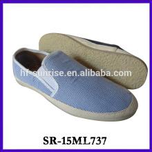 Zapatos de lona baratos de los hombres de lona de los zapatos de lona de los hombres planos de la manera los más nuevos