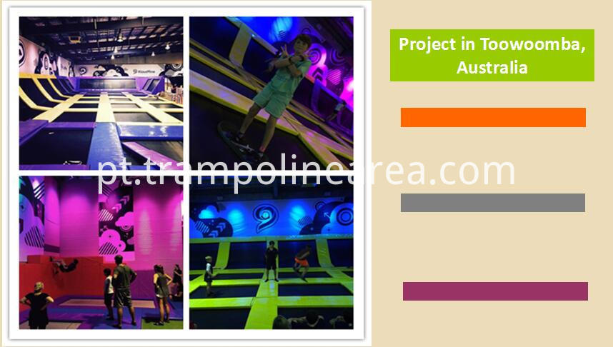 Projects of attractive indoor trampoline