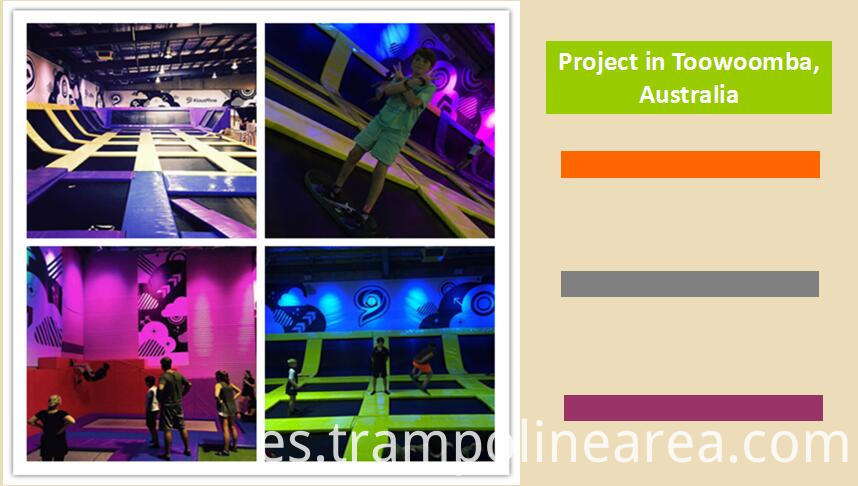 Projects of flight trampoline park