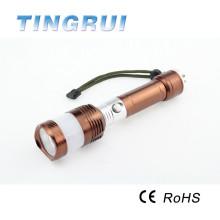 18650 batterie extérieure en aluminium militaire rechargeable lampe de poche lumières de chasse