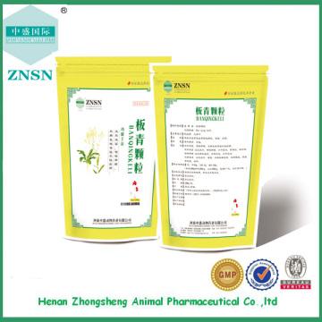 A medicina chinesa veterinária bv aprovou o grânulo de Banqing para aves domésticas do gado