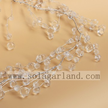 Elegante acryl Crystal Drop Beaded boomtakken