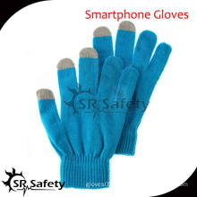 SRSAFETY conductive yarns touch screen glove ,smart phone glove,china supplier