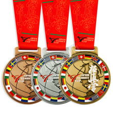 Wholesale Factory Price Cheap Zinc Alloy Custom Football Gold Silver Copper Sport Game Award Souvenir Prize
