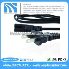 Шнур питания адаптера порта USB 2-Prong для ноутбука