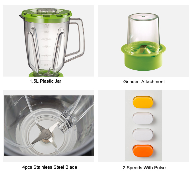 350 Watt Green Color Multi-Function Grinder Blender