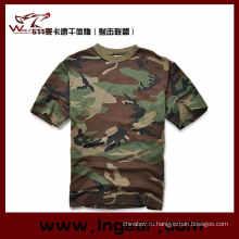 Камуфляжная футболка с коротким рукавом футболки военных