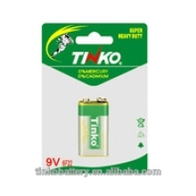 Super carbon zinc battery 6F22 9V with good quality and best price