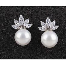 Hohe Qualität Zirkon Stein Ohrring Intarsien Allergie Einfache Modeschmuck